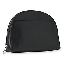 Buy Whistles Corso Half Moon Leather Large Across Body Bag, Black Online at johnlewis.com