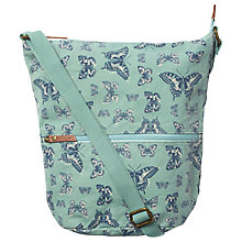 Buy Fat Face Mini Butterfly Canvas Cross Body Bag, Green Online at johnlewis.com