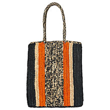 Buy Whistles Pico Stripe Straw Shopper Bag, Multi Online at johnlewis.com