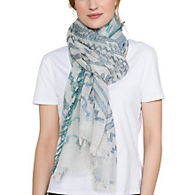 Buy East Zig Zag Scarf, Sky Online at johnlewis.com