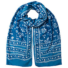 Buy East Neelam Handblock Print Scarf, Ensign Online at johnlewis.com
