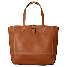 Buy Fat Face Large Leather Buckle Tote Bag, Tan Online at johnlewis.com