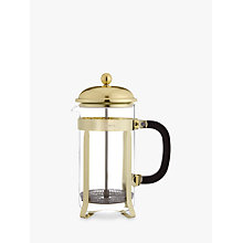 Buy John Lewis Classic 8 Cup Cafetiere, Gold, 1L Online at johnlewis.com