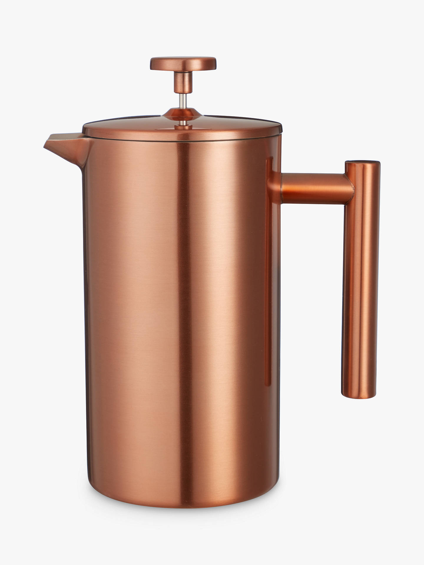 BuyCroft Collection Double Wall Cafetiere, 8 Cup, Copper, 1L Online at johnlewis.com