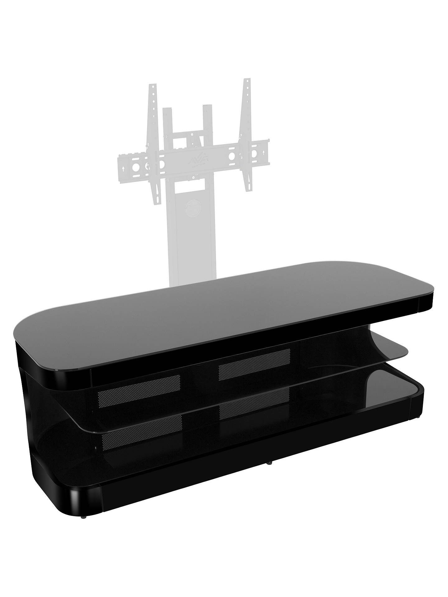 "BuyAVF Affinity Premium Kensington 1250 TV Stand for TVs up to 65"", Black Online at johnlewis.com"