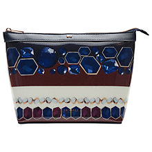 Buy Ted Baker Aaran Rowing Stripe Large Washbag, Navy Online at johnlewis.com