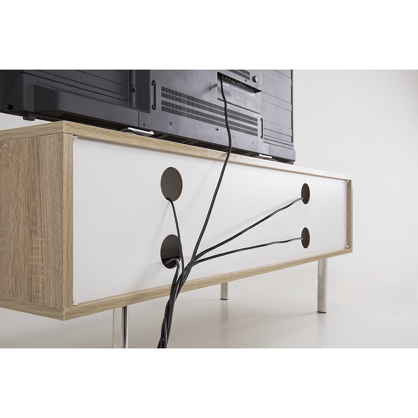 Buy John Lewis Scandi Ii Tv Stand For Tvs Up To 60 White Oak  # Table Tv Simple A Petit Prix
