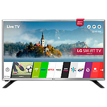 "Buy LG 32LJ590U LED HD Ready 720p Smart TV, 32"" with Freesat HD & Freeview Play, Silver Online at johnlewis.com"