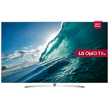 "Buy LG OLED65B7V OLED HDR 4K Ultra HD Smart TV, 65"" with Freeview Play, Dolby Atmos, Picture-On-Metal Design & Crescent Stand, Silver Online at johnlewis.com"