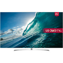 "Buy LG OLED55B7V OLED HDR 4K Ultra HD Smart TV, 55"" with Freeview Play, Dolby Atmos, Picture-On-Metal Design & Crescent Stand, Silver Online at johnlewis.com"