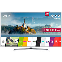 "Buy LG 43UJ750V LED HDR 4K Ultra HD Smart TV, 43"" With Freeview Play & Crescent Stand, Silver Online at johnlewis.com"