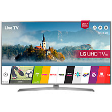 "Buy LG 43UJ670V LED HDR 4K Ultra HD Smart TV, 43"" with Freeview Play & Crescent Stand, Grey Online at johnlewis.com"