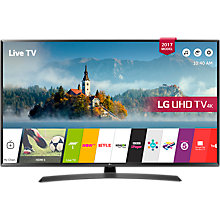 "Buy LG 55UJ635V LED HDR 4K Ultra HD Smart TV, 55"" with Freeview Play & Crescent Stand, Black Online at johnlewis.com"