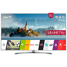 "Buy LG 55UJ750V LED HDR 4K Ultra HD Smart TV, 55"" With Freeview Play & Crescent Stand, Silver Online at johnlewis.com"