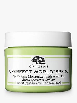 Origins A Perfect World™ Age-Defence Moisturiser SPF 40 with White Tea, 50ml