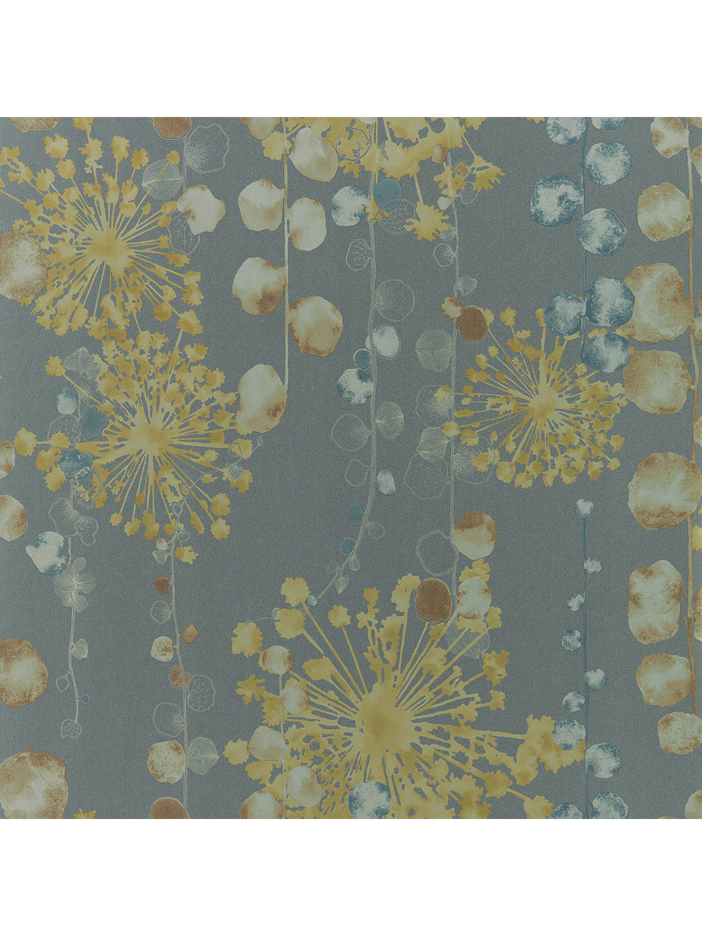 Harlequin Moku Wallpaper Graphite Mustard 111650