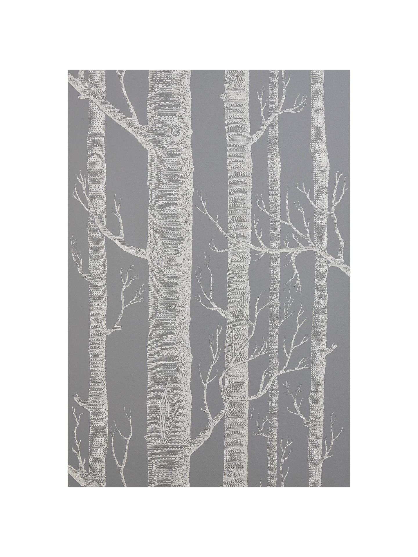 Cole Sons Woods Wallpaper Steel Grey At John Lewis Partners