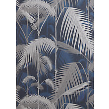 Buy Cole & Son Palm Wallpaper, Jungle / Ink / Grey JL1/958049 Online at johnlewis.com