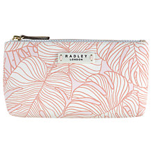 Buy Radley Wild Palms Small Cosmetic Bag, Pale Pink Online at johnlewis.com