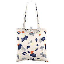 Buy Radley Dash Dog Foldaway Shopper Bag, Neutral/Multi Online at johnlewis.com