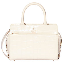 Buy Modalu Berkeley Leather Small Grab Bag, Cream Online at johnlewis.com