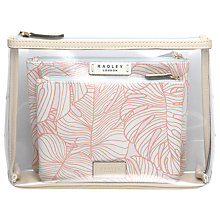 Buy Radley Wild Palms Pouch Set, Pale Pink Online at johnlewis.com