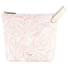Buy Radley Wild Palms Large Cosmetic Bag, Pale Pink Online at johnlewis.com
