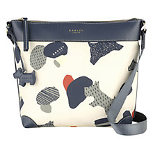 Buy Radley Dash Dog Across Body Bag, Ivory Online at johnlewis.com