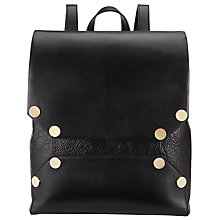 Buy Kin by John Lewis Luna Leather Backpack, Black Online at johnlewis.com
