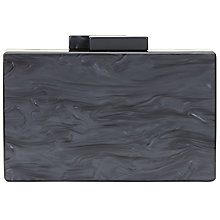 Buy John Lewis Stormm Box Clutch Bag, Black Online at johnlewis.com
