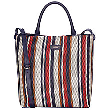 Buy Fiorelli Mckenzie North South Tote Bag, Navy Weave Online at johnlewis.com