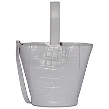 Buy Modalu Lola Leather Mini Bucket Bag, Shark Online at johnlewis.com