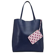 Buy John Lewis Calico Printed Tote Bag, Navy Online at johnlewis.com