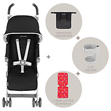 Buy Maclaren Quest Style Stroller Set, Black Online at johnlewis.com