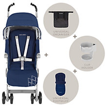 Buy Maclaren Techno XT Winter Style Stroller Set, Blue Online at johnlewis.com