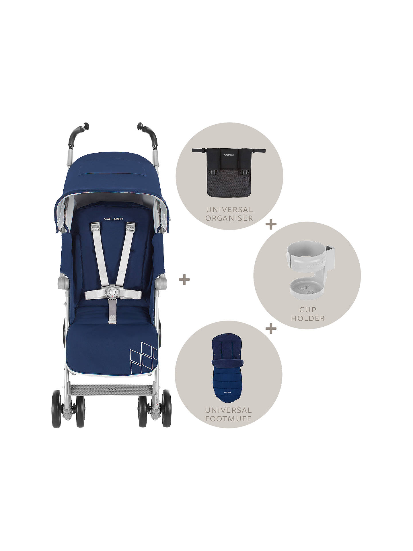 Maclaren Techno Xt Winter Style Stroller Set Blue At John Lewis
