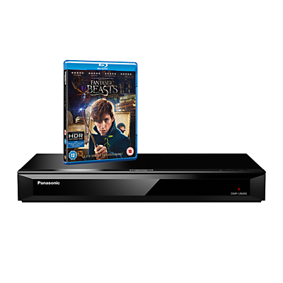 Panasonic DMP-UB400EBK Smart 4K UHD Blu-Ray/DVD Player with Built-in Wi-Fi & High Resolution Audio, Ultra HD Premium Certified
