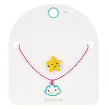 Buy John Lewis Girls' Cloud Necklace and Star Ring Set Online at johnlewis.com