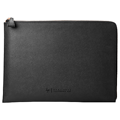 HP Spectre Leather Zip Laptop Sleeve, 13.3, Black