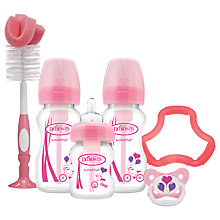 Buy Dr Brown's Options Natural Flow Baby Bottle Gift Set Online at johnlewis.com