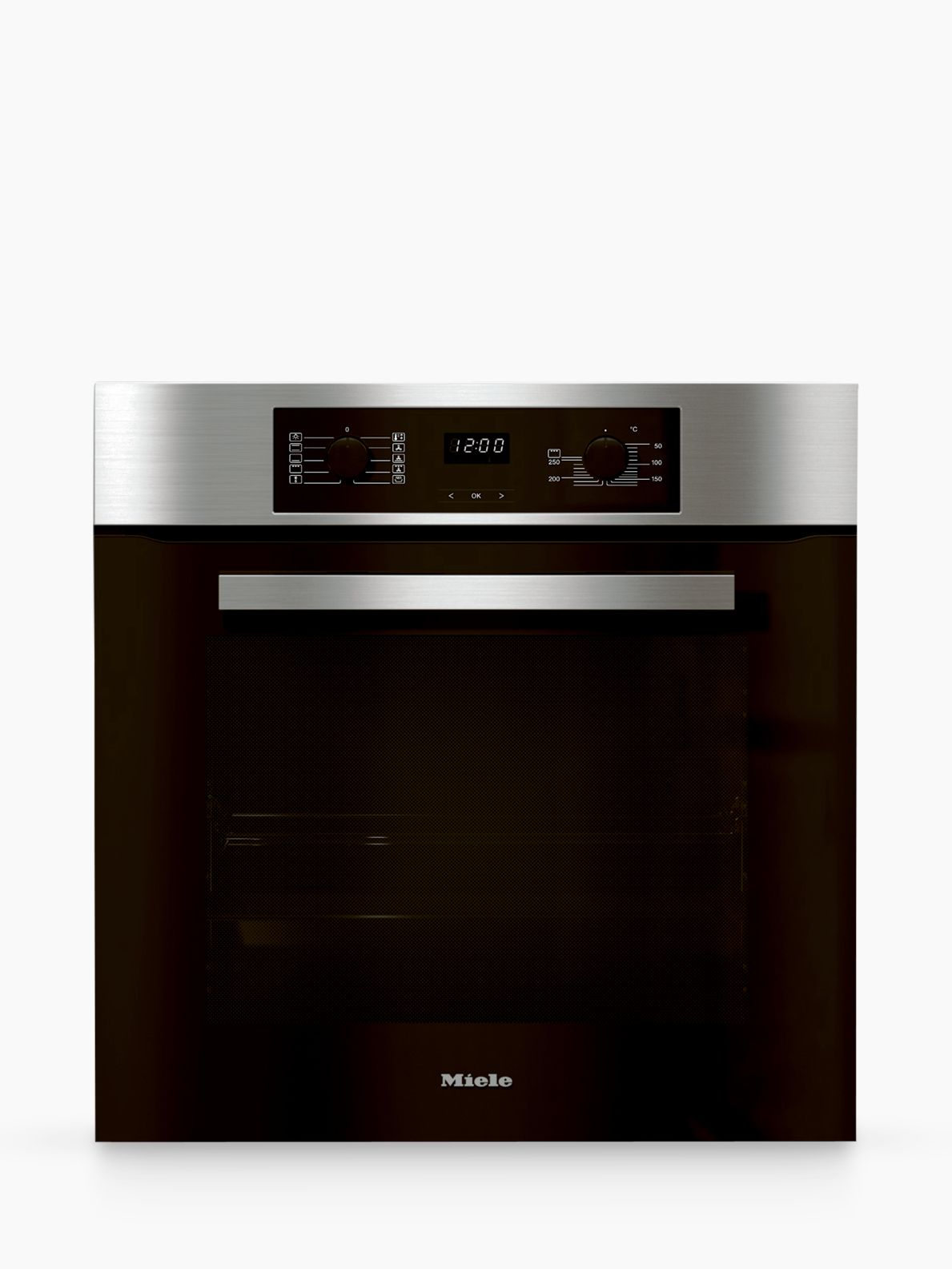 Miele H2265B Discovery Built-In Single Oven, Clean Steel
