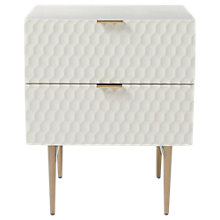 Buy west elm Audrey 2 Drawer Bedside Table Online at johnlewis.com