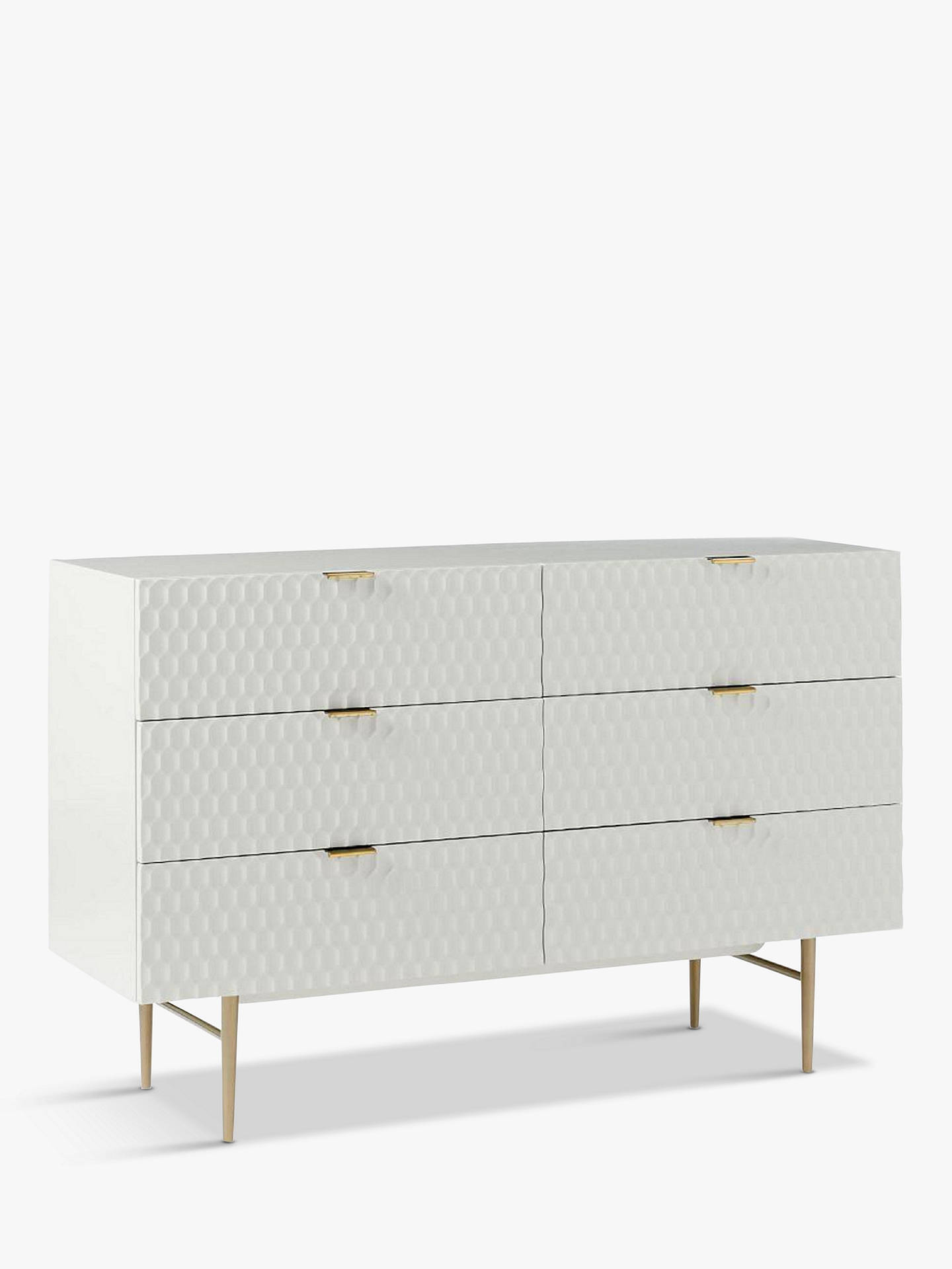 Buywest elm Audrey 6 Drawer Chest, Parchment Online at johnlewis.com