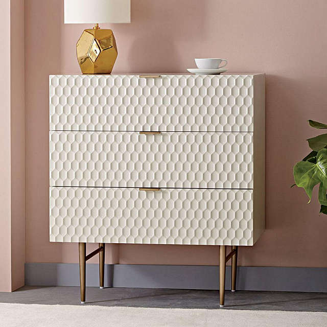 Buywest elm Audrey 3 Drawer Chest Online at johnlewis.com
