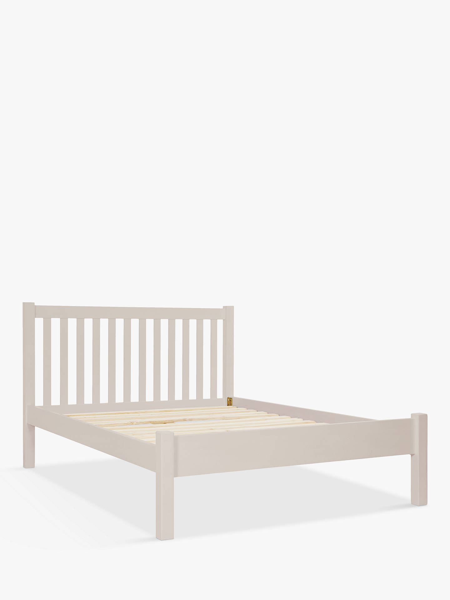 John Lewis Partners Wilton Bed Frame Small Double Grey Online At Johnlewis
