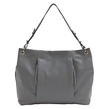 Buy Mint Velvet Eliza Leather Zip Detail Shoulder Bag, Grey Online at johnlewis.com