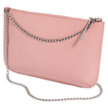 Buy Jigsaw Large Leather Chain Pouch, Dusky Pink Online at johnlewis.com
