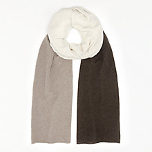Buy John Lewis Cashmere Colour Block Travel Wrap, Toast/Multi Online at johnlewis.com