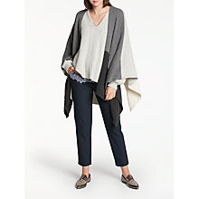 Buy Modern Rarity Luxury Cashmere Stripe Cape, Grey Mix Online at johnlewis.com
