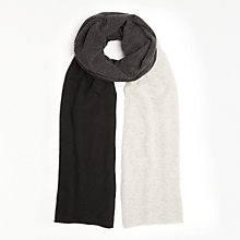 Buy John Lewis Cashmere Colour Block Travel Wrap, Grey/ Multi Online at johnlewis.com